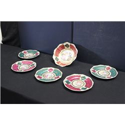 5 PLATES & 1 SERVING BOWL - MINT - ROYAL VIENNA