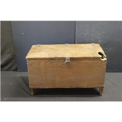"EARLY COUNTRY STORAGE BOX W/ BOOT JACK SIDES - 22.5"" X 11.5"""
