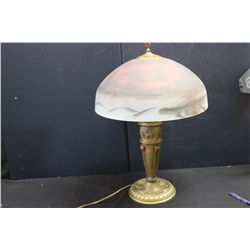LOVELY REVERSE PAINTED LAMP