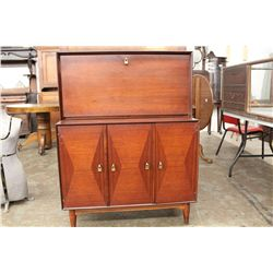 2 PC. MAHOGANY INLAY  LIQUOR CABINET - RAMSEUR FURNITURE CO. N.C.