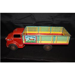 MARX FARM TRUCK - GOOD COND. PRESSED TIN 18""