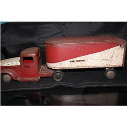 EARLY STRUCTO HI-WAY TRANSPORT - ALL GOOD AND SOLID - NEEDS PAINT - 25""
