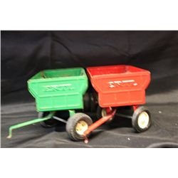 2 WAGONS GOOD COND. ERTL