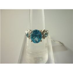 10.50 CTW BLUE TOPAZ RING .925 STERLING SILVER