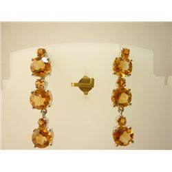 30.75 CTW CITRINE EARRING .925 STERLING SILVER