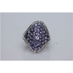 43.89 TANZANITE RING .925 STERLING SILVER