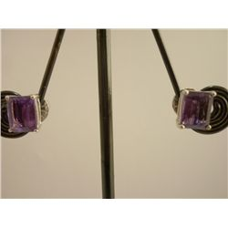 26.25 CTW AMETHYST AND MOONSTONE EARRING .925 STERLING
