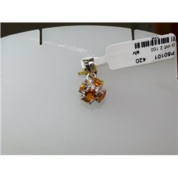 10.50 CTW CITRINE PENDANT .925 STERLING SILVER