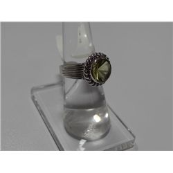 35.50 CTW LEMON QUARTZ RING .925 STERLING SILVER
