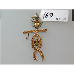 32.00 CTW CITRINE PENDANT .925 STERLING SILVER