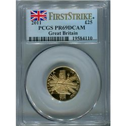 Great Britain 1/4 oz. Britannia 2011, PF69