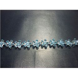 NATURAL 112.25 CTW BLUE TOPAZ BRACELET .925 STERLING SI