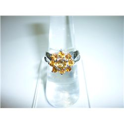 22.75 CTW CITRINE RING .925 STERLING SILVER