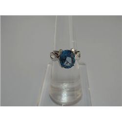 19.75 CTW BLUE TOPAZ RING .925 STERLING SILVER