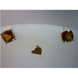 17.00 CTW CITRINE EARRING .925 STERLING SILVER