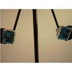 23.00 CTW BLUE TOPAZ EARRING .925 STERLING SILVER