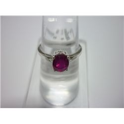 NATURAL 14.50 CTW RUBY RING .925 STERLING SILVER
