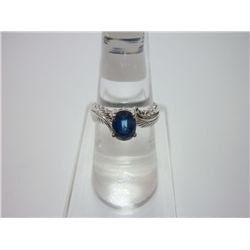 NATURAL 14.75 CTW SAPPHIRE RING .925 STERLING SILVER