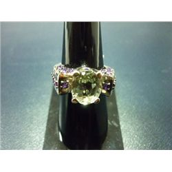 NATURAL 37.25 CTW SEMI PRECIOUS RING .925 STERLING SILV