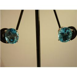 19.50 CTW BLUE TOPAZ EARRING .925 STERLING SILVER
