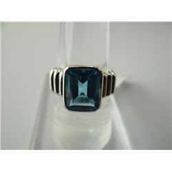 30.75 CTW BLUE TOPAZ RING .925 STERLING SILVER