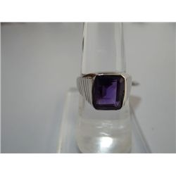 27.50 CTW AMETHYST RING .925 STERLING SILVER