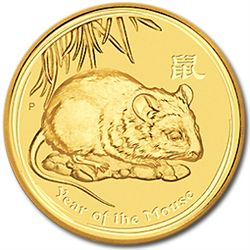2008 1/4 oz Gold Coin Year of the Mouse (Series 2)
