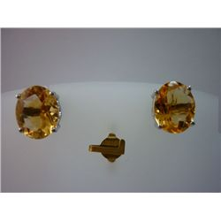 18.75 CTW CITRINE EARRING .925 STERLING SILVER