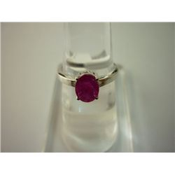 10.50 CTW RUBY RING .925 STERLING SILVER