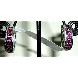 NATURAL 27.00 CTW GARNET EARRING .925 STERLING SILVER