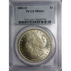 1885-O MORGAN SILVER DOLLAR PCGS MS64+