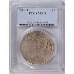 1883-O MORGAN DOLLAR PCGS MS63