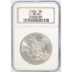 1883 MORGAN SILVER DOLLAR NGC MS66 SUPER!