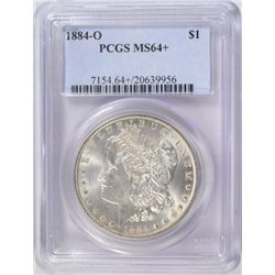 1884 O MORGAN SILVER DOLLAR PCGS MS64+
