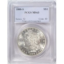 1888-S MORGAN SILVER DOLLAR PCGS MS63