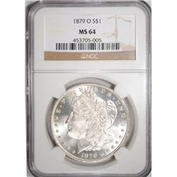 1879-O MORGAN SILVER DOLLAR NGC MS64