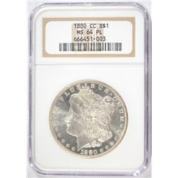 1880-CC MORGAN DOLLAR NGC MS64 PL SUPER!
