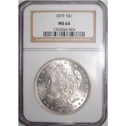 1879 MORGAN SILVER DOLLAR NGC MS64
