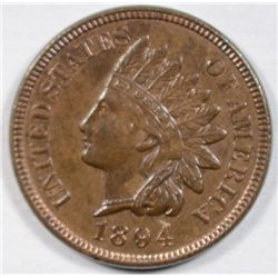 1894  Indian penny  AU55 STILL SOME RED