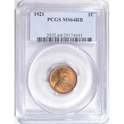 1921  Lincoln penny PCGS64RB