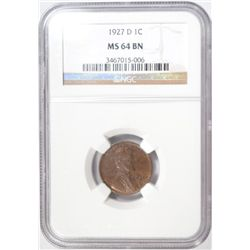 1927D  Lincoln penny NGC64BN