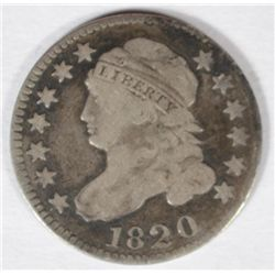 1820  Bust  dime F/VF  all original Nice type coin