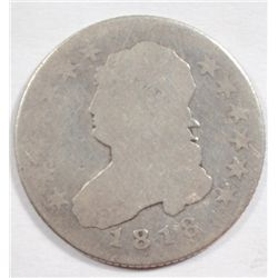 1818  BUST quarter  AG solid date