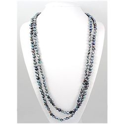 475.96 ctw Simple Greyish Fresh Water Pearl Necklace