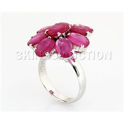 33.82CTW Natural Pink Ruby-Sterling Silver Ring