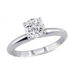 0.25 ct Round cut Diamond Solitaire Ring, G-H, I