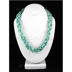 591.51CTW 20in. OCEAN BLUE CHIPPED STONE NECKLACE METAL