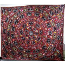 Indian Handmade Embroider Wall Art Fabric Decoration