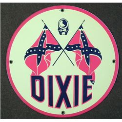 DIXIE CONFEDERATE ROUND HEAVY METAL SIGN PLAQUE