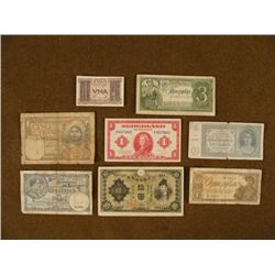 8 WWII AND PRE-WWII CURRENCY- ITALY RUSSIA JAPANESE